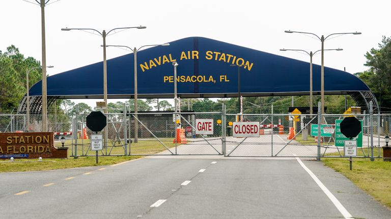 Three people were killed at the  Pensacola Naval Air Station  during a mass shooting