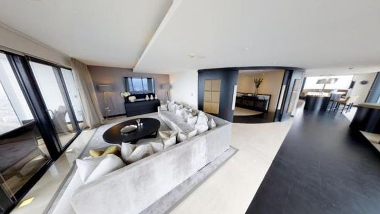 Four-bedroom £3.5m penthouse in Manchester. Pic: Rendall & Rittner