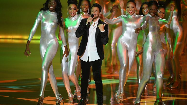 Peter Andre was one of the performers at the final