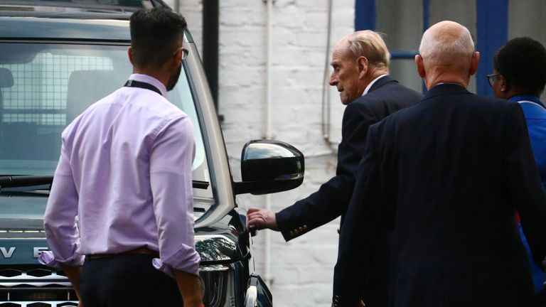Britain's Prince Philip enters a car as he leaves the King Edward VII's Hospital in London, Britain December 24, 2019. REUTERS/Hannah McKay