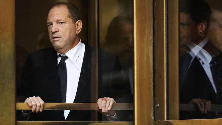 Harvey Weinstein exits court after an arraignment over a new indictment for sexual assault in New York City