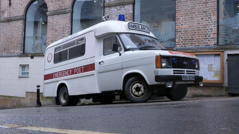 The Poetry Pharmacy ambulance