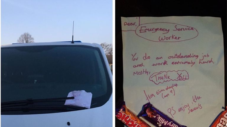 Chorley Police had a welcome surprise waiting for them on their van. Pic: Chorley Police