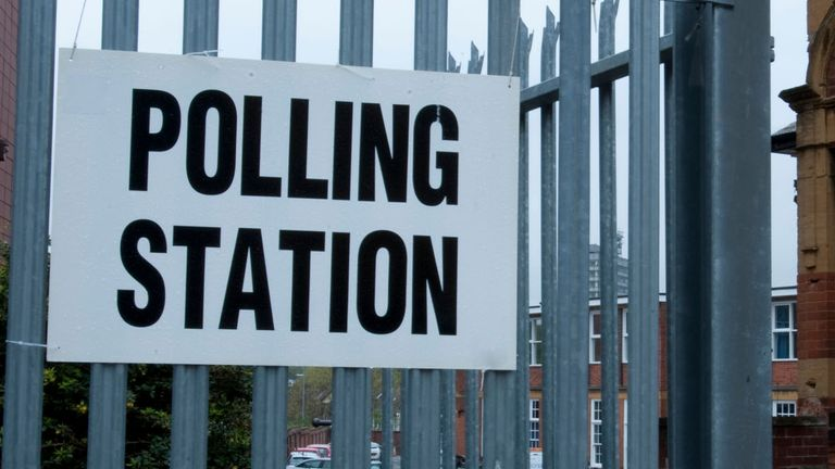 A polling station in Coventry