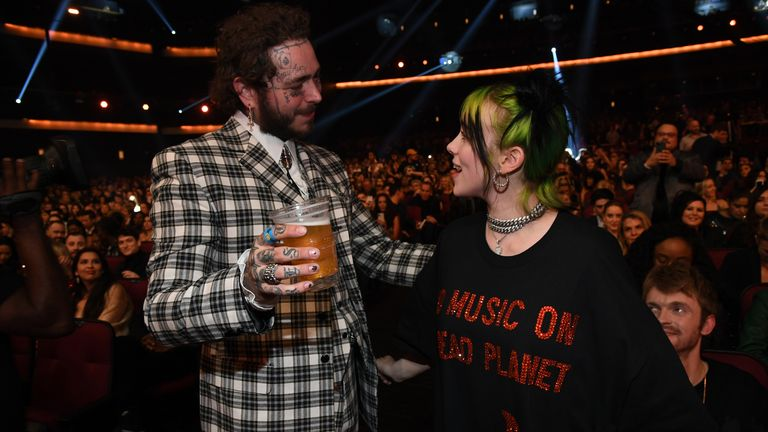 Post Malone and Billie Eilish