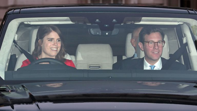 Princess Eugenie and her husband Jack Brooksbank