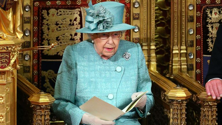 Queen Elizabeth delivers the Queen's Speech