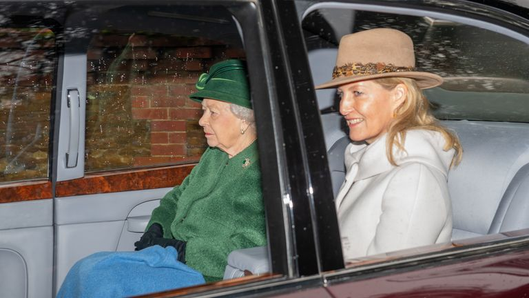 The Queen and the Countess of Wessex attended a church service in Norfolk