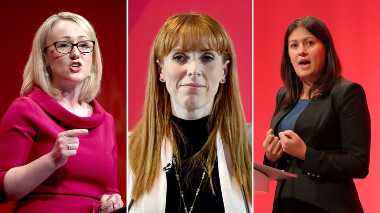 Rebecca Long-Bailey, Angela Rayner, Lisa Nandy