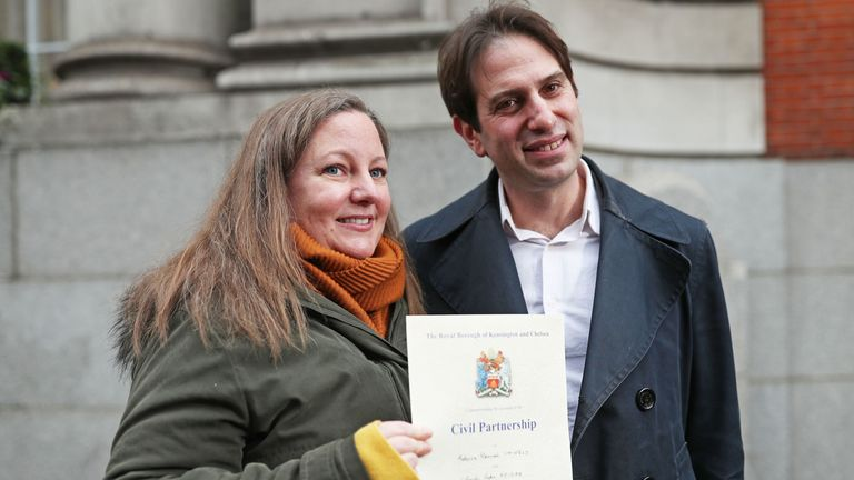 Rebecca Steinfeld and Charles Keidan won a Supreme Court fight to have a civil partnership instead of a marriage