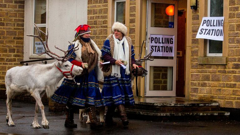 Reindeer have even made an appearance this Christmas vote. Pic: SWNS
