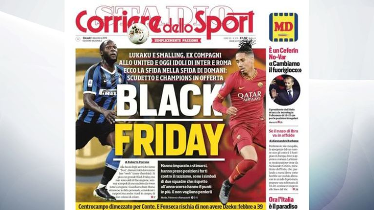 Romelu Lukaku, left, and Chris Smalling, right, have criticised the 'Black Friday' headline