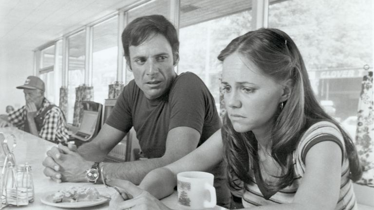 Actress Sally Field and Ron Leibman in Norma Rae