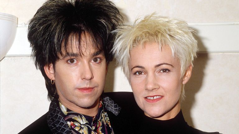 Marie Fredrikkson and Per Gussle of Roxette in 1991