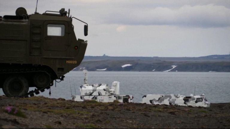 The Novaya Zemlya air base in the Arctic