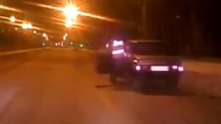 Traffic police in Russia carry out daring arrest