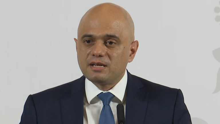 Sajid Javid announces appointment of new Bank of England governor