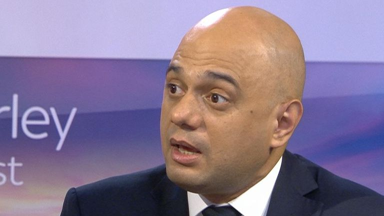 Sajid Javid points the finger at Labour in regard to spiralling numbers of homeless in UK