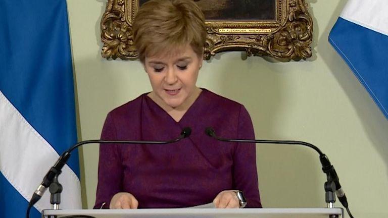 Nicola Sturgeon has written to Boris Johnson to request a second referendum on Scottish independence.