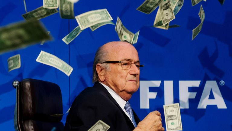 President Joseph S. Blatter during a press conference at the Extraordinary FIFA Executive Committee Meeting at the FIFA headquarters on July 20, 2015