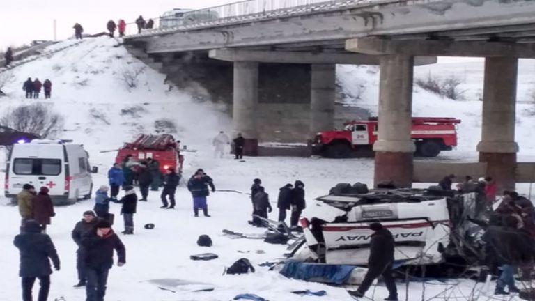 Siberia bus crash