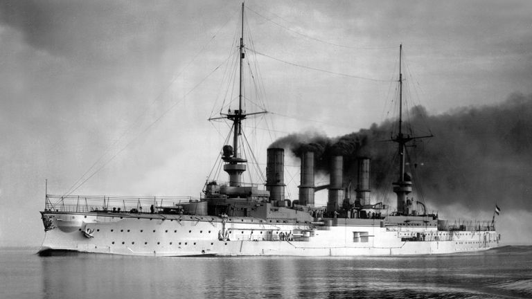 SMS Scharnhorst was the flagship of Admiral Maximilian Graf von Spee's East Asia Squadron
