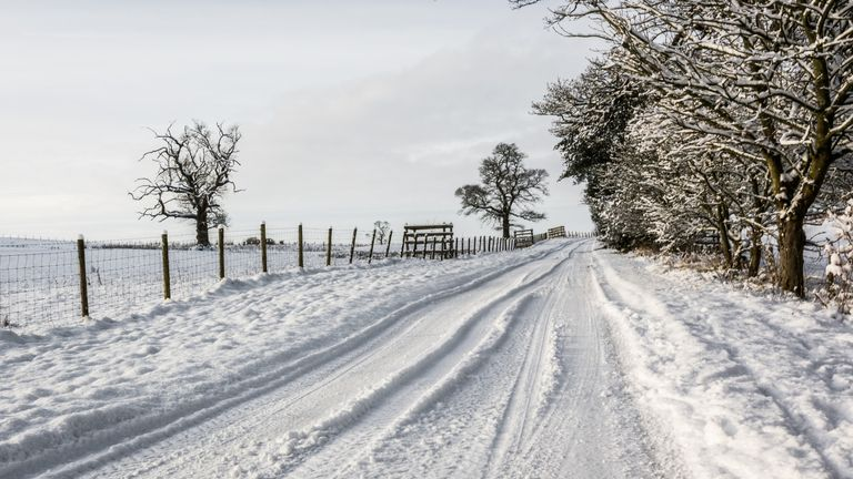 Snow has fallen in some parts of the UK. File pic