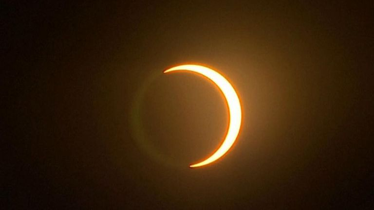 Solar eclipse as seen from Sri Lanka