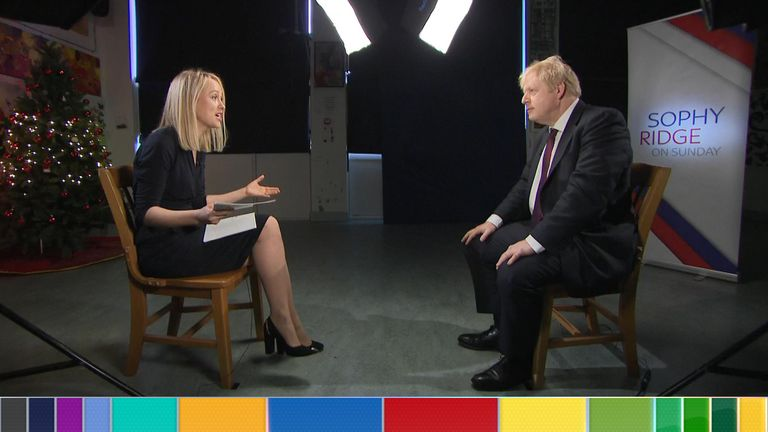 Boris Johnson is grilled in the final Sophy Ridge On Sunday before voters head to the polls