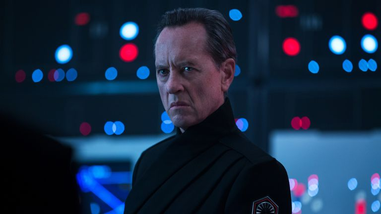 Richard E. Grant is Pryde in STAR WARS:  THE RISE OF SKYWALKER. Pic: Walt Disney