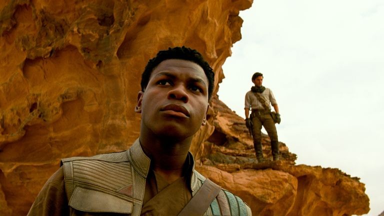 Finn (John Boyega) and Poe Dameron (Oscar Isaac) in STAR WARS: THE RISE OF SKYWALKER