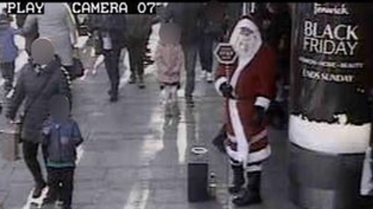 Stephen Brown was dressed as Santa Claus when he was arrested over the weekend. Pic: Northumbria Police