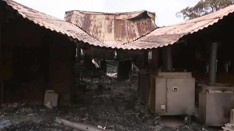 The fire ravaged Steve Harrison's property