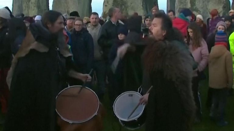 Winter solstice marked at Stongehenge