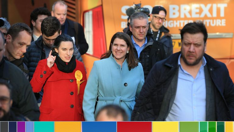 Jo Swinson seemed to hint she would work with Labour if Mr Corbyn wasn't leader