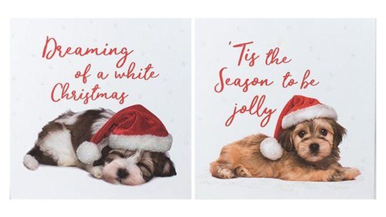 Tesco's charity Christmas cards raise £300,000 each year for three major British health charities. Pic: Tesco