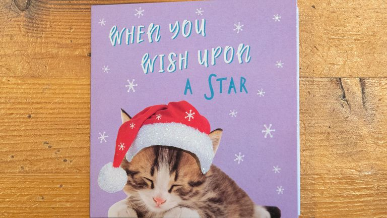 Tesco sells the Christmas cards to raise money for UK charities