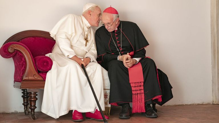 The Two Popes. Pic: Netflix