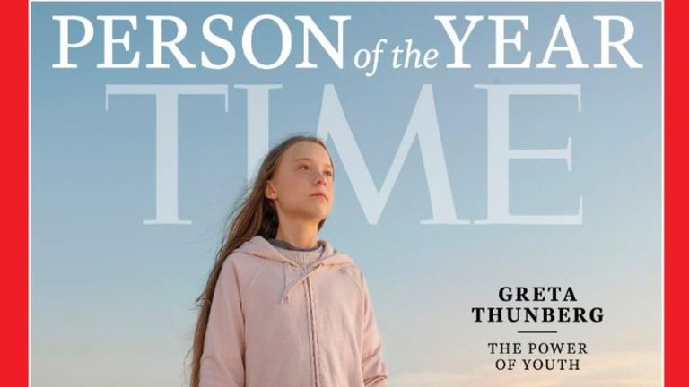 Greta Thunberg is Time magazine's person of the year