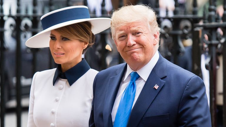 Donald Trump and his wife Melania visit London for the second time in his presidency