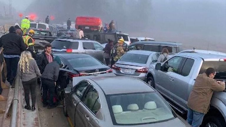 Thick fog and ice were blamed for the crash