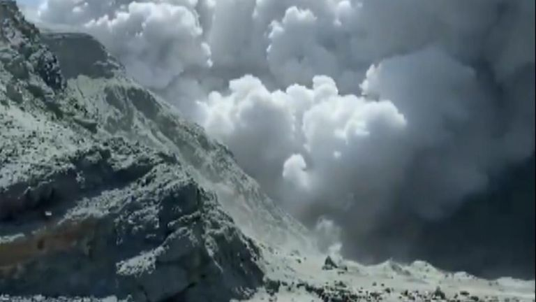 After an volcano on New Zealand's White Island, there is one confirmed casualty with other tourists injured and 'unaccounted for'
