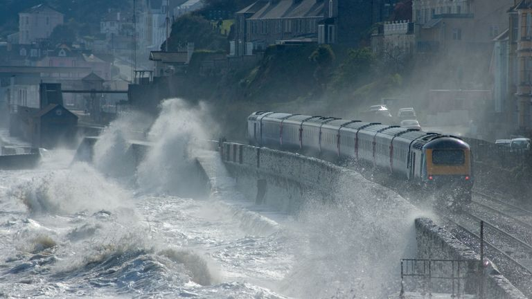 Strong winds and heavy rain are set to cause major transport disruption, especially in coastal areas