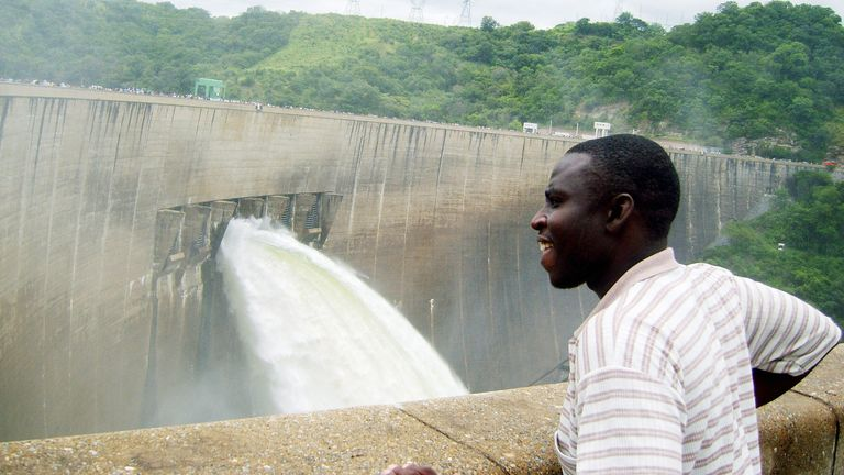 A man looks over the Kariba Dam. File pic