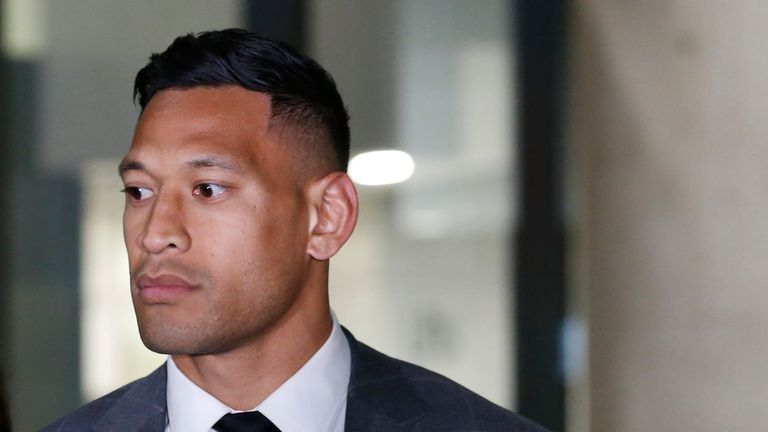 Rugby Australia denies 'backing down' over Folau