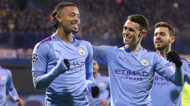 Gabriel Jesus scored his second Champions League hat-trick in Man City's 4-1 win in Zagreb