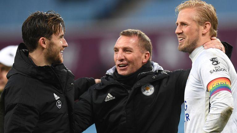 Brendan Rodgers, Ben Chilwell, Kasper Schmeichel