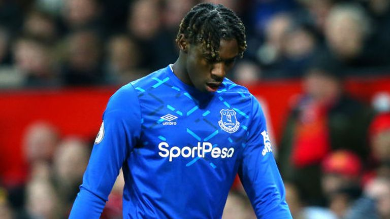 Moise Kean came on in the 70th minute and was withdrawn in the 89th minute at Old Trafford
