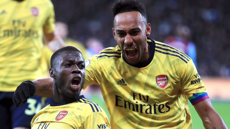 Nicolas Pepe and Pierre-Emerick Aubameyang were both on target against West Ham