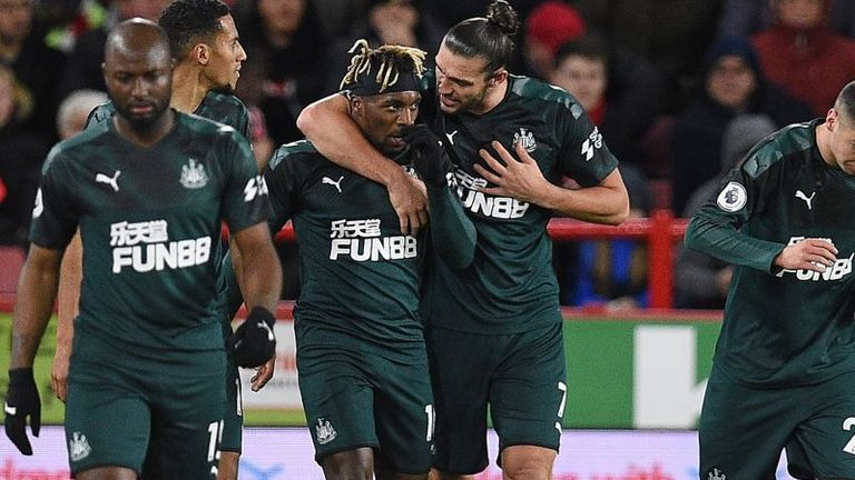 Allan Saint-Maximin scored Newcastle's opener against Sheffield United